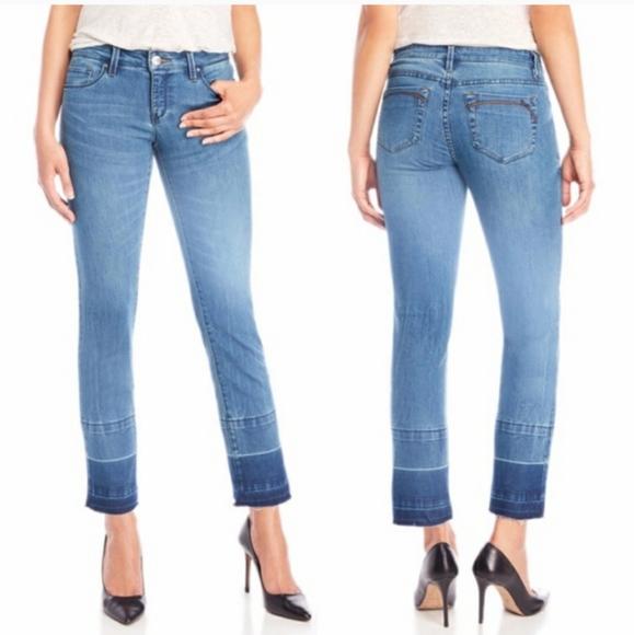 Nanette Lepore Denim - Nanette Lepore Nolita Skinny Cropped Jeans Raw Hem